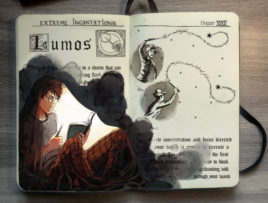 Harry Potter books by Picolo-kun
